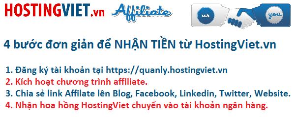 Chính sách chương trình Affiliate - hostingviet.vn