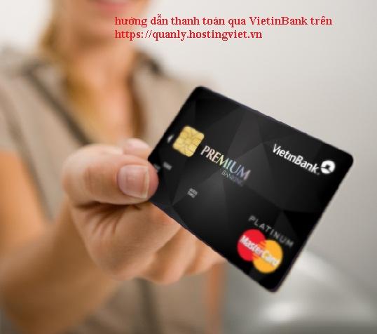 hướng dẫn thanh toán qua vietinbank