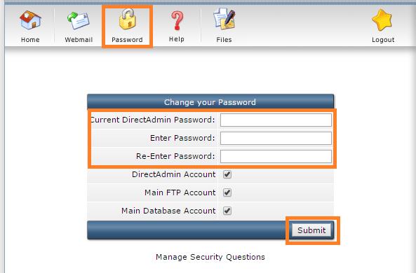 Hướng dẫn đổi mật khẩu trong DirectAdmin (Change Password DirectAdmin)