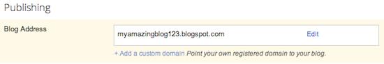 Tới blog của bạn và bấm vào vấn đề cơ bản trong tab Settings