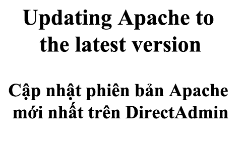 Updating Apache to the latest version