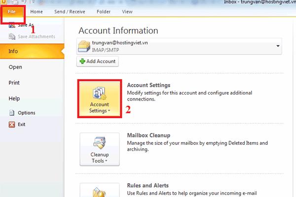 hướng dẫn sử dụng email outlook