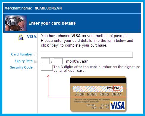 hướng dẫn thanh toán qua visa