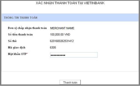 hướng dẫn thanh toán qua ngân hàng viettinbank